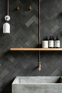 Cle tile black terracotta