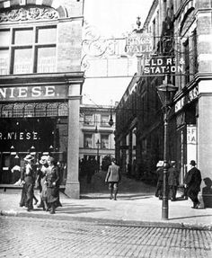 Kings Walk, Nottingham, c Vintage London, Old London, Nottingham City, Good Old Times, Old Street, Historical Pictures, London England, Old Photos, Places To See