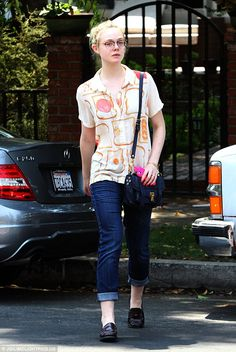 Toast of the town: Elle Fanning headed out for lunch at Aroma in Studio City, California with a friend on July 29, 2014 http://dailym.ai/1u0QdaE