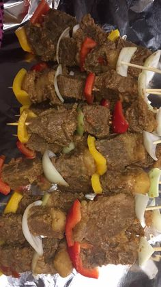 Liberian Food Roasted Meat Photo: Lofa Princess Liberian Food Recipe, West African Food, Beef Kabobs, Nigerian Food, Roasted Meat, World Recipes, Recipe For 4, International Recipes, Cooking Recipes