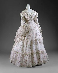 Dress C 1872 France The Metropolitan Museum Of Art 19th Century Fashion