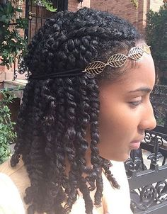 kinky twists on your own hair