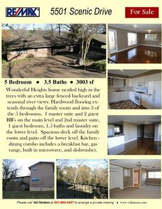 Wonderful Heights home nestled high in the trees with seasonal river views. In The Tree, Master Suite, Baths, Hardwood Floors, Family Room, Bedrooms, Trees, Real Estate, Backyard