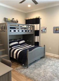 Smart Bunk Bed Ideas For Your Kids Bedroom Design - Engineering Discoveries Shared Boys Rooms, Bunk Beds For Boys Room, Bed For Girls Room, Bunk Bed Rooms, Cool Bunk Beds, Boy Room, Shared Bedrooms, Boys Room Ideas, Boy Beds