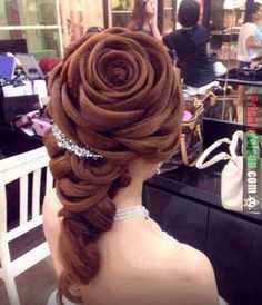 Funny pictures about Rose Hair. Oh, and cool pics about Rose Hair. Also, Rose Hair photos. Up Hairstyles, Pretty Hairstyles, Braided Hairstyles, Wedding Hairstyles, Rose Hairstyle, Flower Hairstyles, Hair Updo, Amazing Hairstyles, Belle Hairstyle
