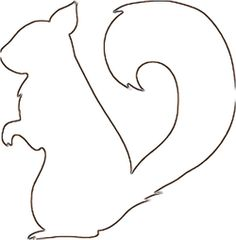 Squirrel pattern. Use the printable outline for crafts, creating st ...