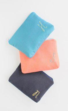 Personalized Cosmetic Bags Monogram Bridesmaid