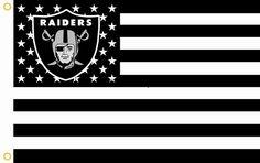 Oakland Raiders US Stripe Flag 3X5 FT