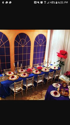 This was a Beauty and the Beast Party for a 4 year old and the goal for us was to make it feel as much like the ballroom from the movie as p. beauty and the beast Beauty and the Beast Birthday Party Beauty And The Beast Wedding Theme, Beauty And Beast Birthday, Belle Beauty And The Beast, Wedding Beauty, Beauty And Beast Party, Beauty Beast, Quince Decorations, Quinceanera Decorations, Quinceanera Party