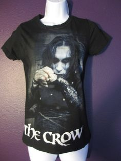 The Crow Brandon Lee Babydoll Fitted Shirt Top Goth Punk Psychobilly M / L