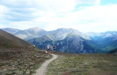 Runners near the top of the 12,600-foot Hope Pass, mile 45 and 55 of the Leadville 100. Photo by Yitka Winn.