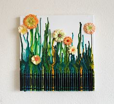 Crayon Garden.....I was literary mesmerized to see how this beautiful art work was done...don't forget to check it....This would be perfect gift for those who love gardening...surprise your loved ones with this amazing gift..with full of love..