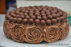 Malteaser and chocolate mouse rose cake Whopper Cake, Malteser Cake, Cupcakes, Cupcake Cakes, Ganache Torte, Mousse Cake, Chocolates, Rose Cake Design, Lemon And Coconut Cake