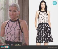 Jennifer's branch print dress on Days of our Lives. Outfit Details: http://wornontv.net/50187/ #DaysofourLives