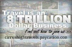 Have you ever thought about becoming a travel agent? I can show you 20 ways to get payed in this 8 trillion dollar industry! I can also show you how to make 75 % commission as a travel agent
