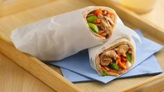 Slow Cooker Teriyaki-Sesame-Chicken Wraps Recipe