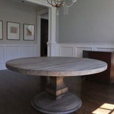 Rustic Elements Furniture custom builds round tables, available in your choice of wood, style, and distress. 60 Inch Round Table, Round Tables, Dining Tables, Custom Furniture, Home Kitchens, Rustic, Wood, Kitchen Island, House