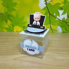 Caixa acrílica scrap Poderoso Chefinho no Elo7 | Corta e Dobra papelaria personalizada by Kátia Nishida (C1C9C2) Boss Baby, Baby Shower, Baby Party, Gabriel, Toy Chest, Party Themes, Container, Tags, Personalized Stationery