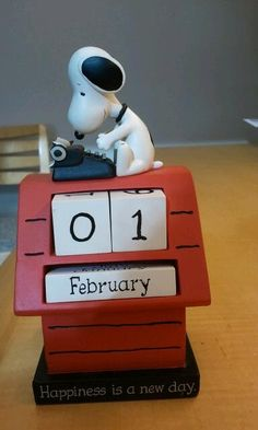 """My Snoopy """"forever"""" calendar. I always forget to change regular calendars, but not this one!"""