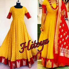 Indian Gown Design, Indian Designer Wear, Lehenga Gown, Anarkali Dress, Salwar Designs, Blouse Designs, Frock Models, Recycled Dress, Long Dress Design