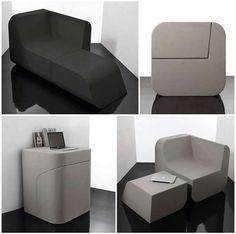 Muebles multifuncionales. Sillón tranformable . #mueble #multifuncion #furniture