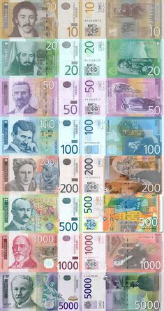 Serbian Dinar - moneyArt and design inspiration from around the world – CreativeRoots