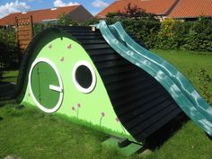 Hobbit hole play house - has some basic plans for other structures