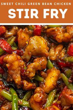 Thai Chicken Stir Fry, Sweet Chili Chicken, Chicken Teryaki Stir Fry, Thai Sweet Chili Sauce, Best Chicken Recipes, Asian Recipes, Thai Food Recipes, Best Chicken Dishes, Chinese Chicken Recipes