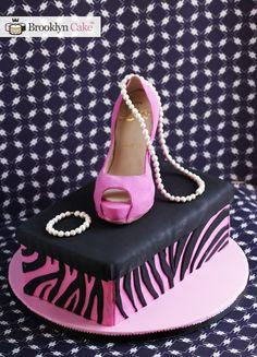 Louboutin Stiletto and Shoe box cake