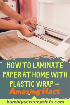You have documents that you want to laminate but you have no laminator. Hambly Screen Prints will show you how you can DIY laminate your sensitive documents with plastic wrap and without a machine. There are a few ways and this article will show you each method step-by-step so you can feel confident your documents are protected. The choices of what you can laminate in this manner are many. So if you are not ready to buy a laminator learn more here. #diylaminate #laminateplasticwrap… Laminating Paper, Plastic Wrap, Vinyl Cutting, Workplace, Confident, Screen Printing, Choices, How To Find Out, Cricut