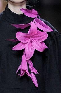 Floral embellishments from Dries Van Noten FW14.