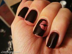Kiss Nails fashion girly cute photography nails girl nail polish nail girls photo style pretty nails nail art