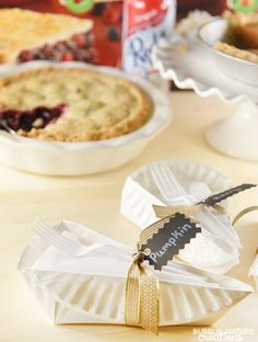 DIY Pie Slice Boxes!! Perfect for sending home guests with a piece of pie or gifting for the holidays!