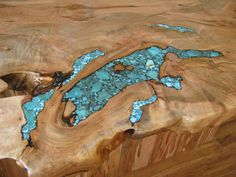 Tranquil Sea of Turquoise Inlay for Countertop