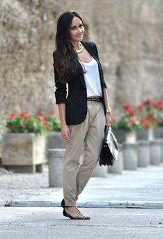 Zara  Blazers, Massimo Dutti  T Shirts and Zara  Pants