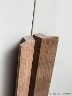 Bespoke wooden door handles for wardrobe doors. GD&LBespoke
