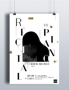 Piano CD cover & post & brochure on Behance Poster Design Layout, Graphic Design Posters, Graphic Design Typography, Jazz Poster, Poster Art, Poster Prints, Music Classique, Classical Music Concerts, Piano Art