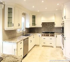 Traditional Style Kitchen With Lovely Shaker Cabinets