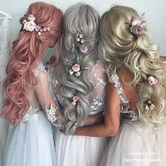 20 beautiful wedding hairstyles from Ulyana Aster love hair Bridal Hair Aster beautiful Hair Hairstyles Love Ulyana wedding Pretty Hairstyles, Wedding Hairstyles, Hairstyle Ideas, Fashion Hairstyles, Mermaid Hairstyles, Princess Hairstyles, Long Bridal Hair, Hair Wedding, Gold Wedding