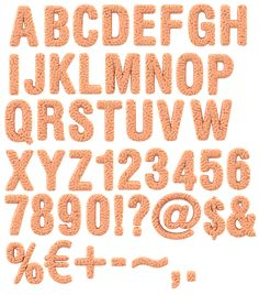 Brain font alphabet. Typography, letters.
