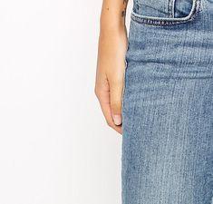 ASOS | ASOS The Crop Bandeau Top Bandeau Top, Fashion Online, Asos, Jeans, Shopping, True Words, Green Jeans, Denim Pants, Jeans Pants