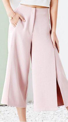 blush palazzo pants