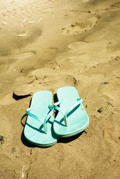 Tiffany Blue Flip Flops