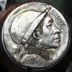 ARCHIE TAYLOR HOBO NICKEL - 1928 BUFFALO PROFILE Hobo Nickel, Archie, Buffalo, Coins, Profile, Money, User Profile, Rooms, Silver