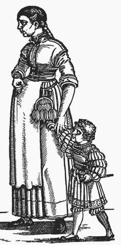 Landsknecht mother and child