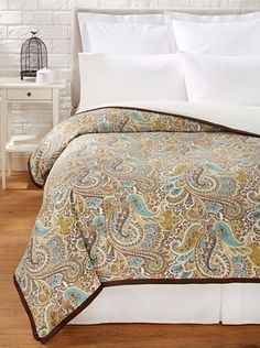 51% OFF Chateau Blanc Paisley Duvet Cover (Chocolate)