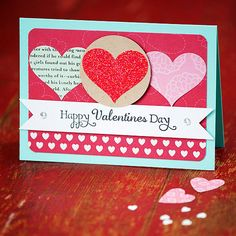 Simple Valentine's Day Card with Hearts