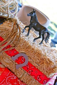 So… this has got to be one of the cutest country western birthday parties I've ever seen! Cowboy First Birthday, Rodeo Birthday, Horse Birthday Parties, Rodeo Party, Cowboy Theme Party, Horse Party, Western Centerpieces, Cowboy Party Centerpiece, Wild West Party