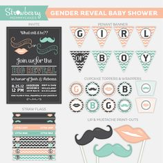 Share your baby's gender with this cute party theme!