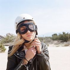 ❤️ Women Riding Motorcycles ❤️ Girls on Bikes ❤️ Biker Babes ❤️ Lady Riders ❤️ Girls who ride rock ❤️ ❤️ TinkerTailor. Easy Rider, Lady Biker, Biker Girl, Biker Chick, Motorcycle Goggles, Motorcycle Girls, Bike Helmets, A Well Traveled Woman, Cafe Racer Girl